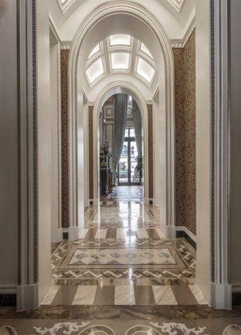 玄关米色走廊新古典风格装潢图片