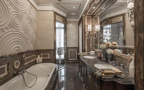 卫生间米色背景墙新古典风格装潢设计图片