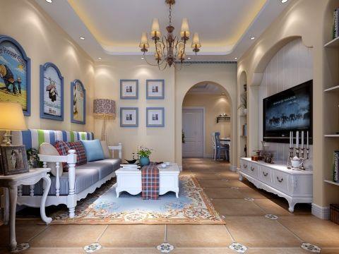 客厅白色吊顶混搭风格装修图片