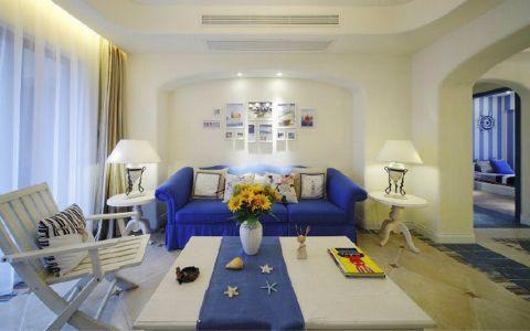 地中海风格116平米三房两厅新房装修效果图