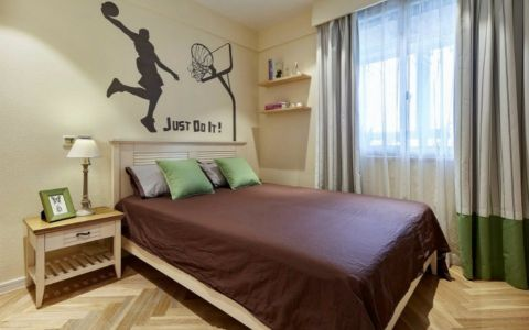 绿地国际博览城120平米美式田园三居室装修案例