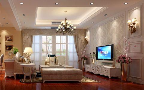 英伦联邦120平米三居室简欧装修风格案例