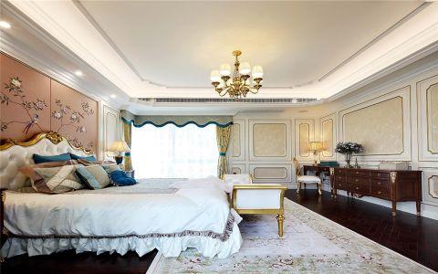 卧室咖啡色背景墙法式风格装潢设计图片