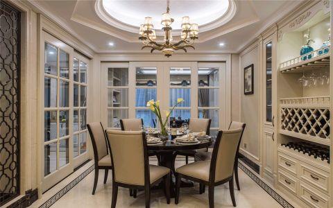 餐厅白色吊顶美式风格装饰效果图