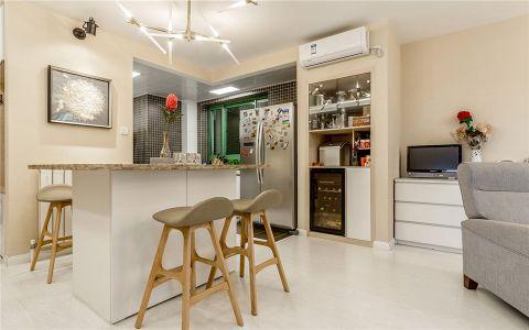 质感现代白色吧台室内装修图片