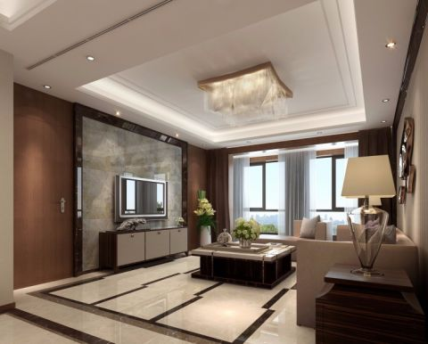 现代简约风格250平米套房新房装修效果图