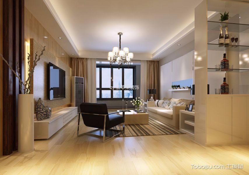 客厅白色吊顶地中海风格装修设计图片