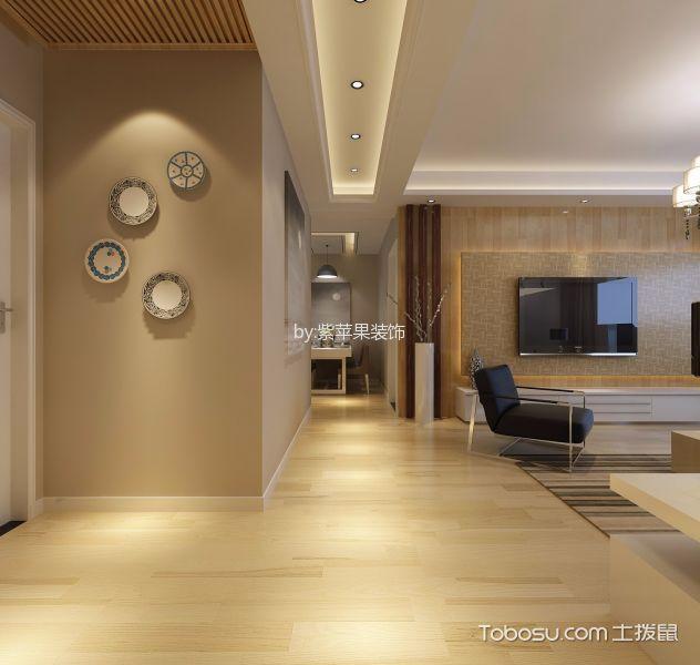 客厅米色走廊地中海风格装潢设计图片