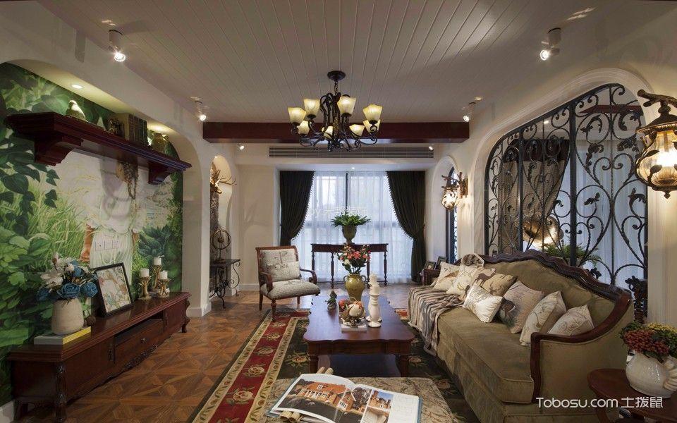 美式风格150平米3房2厅房子装饰效果图