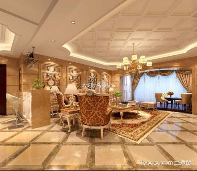 欧式风格130平米三房两厅新房装修效果图