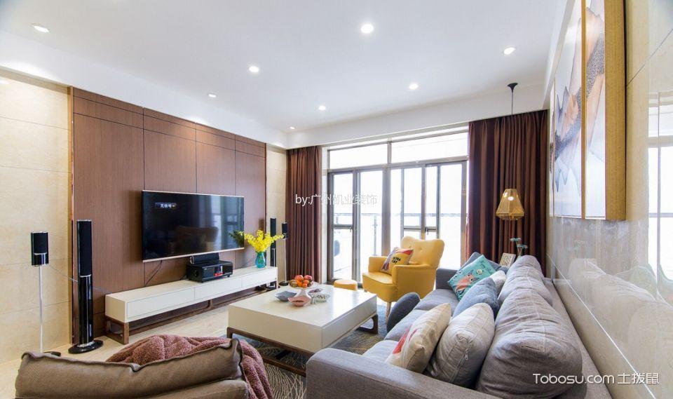 混搭风格80平米套房室内装修效果图