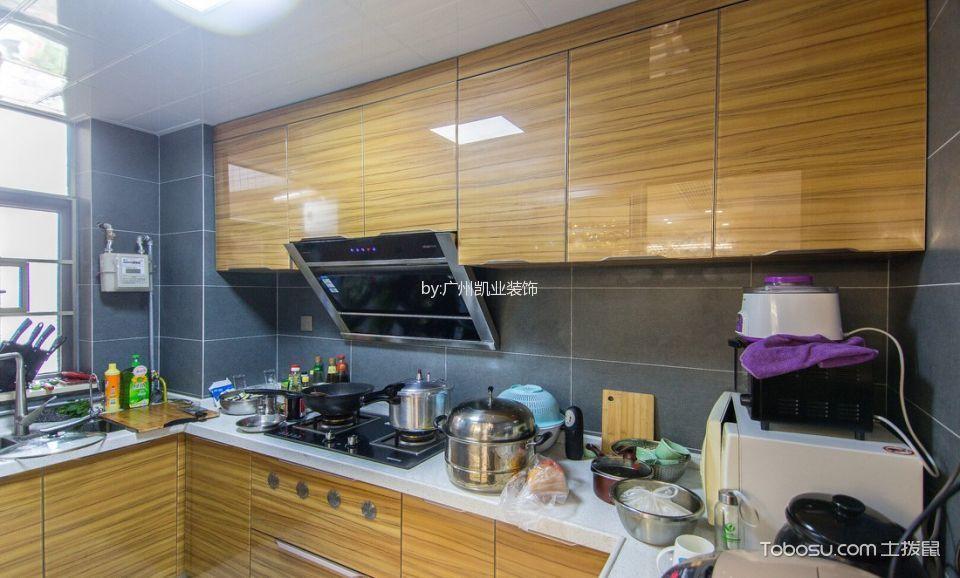 厨房灰色背景墙混搭风格装潢效果图
