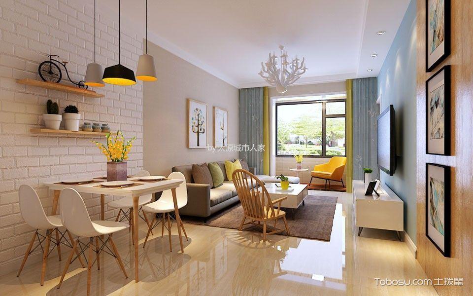 简约风格120平米2房2厅房子装饰效果图