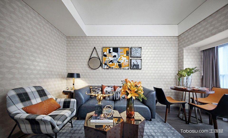 美式风格90平米套房室内装修效果图
