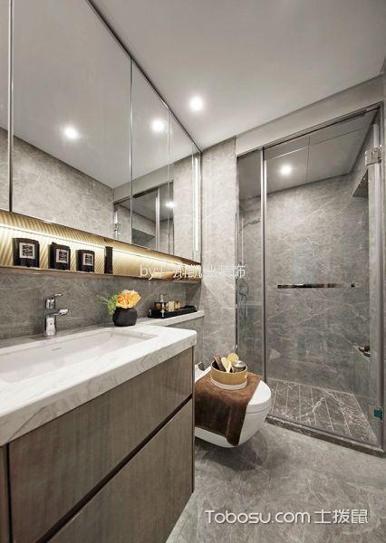 卫生间白色吊顶混搭风格装修设计图片