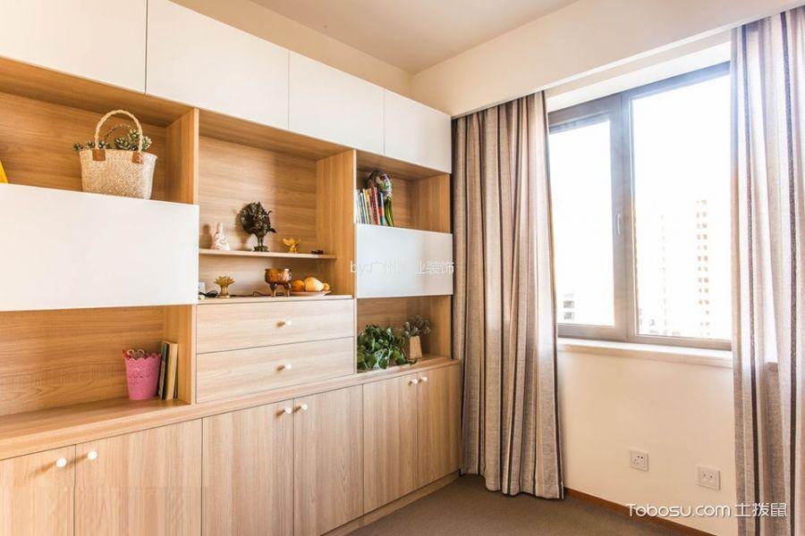 书房白色窗帘混搭风格装饰设计图片