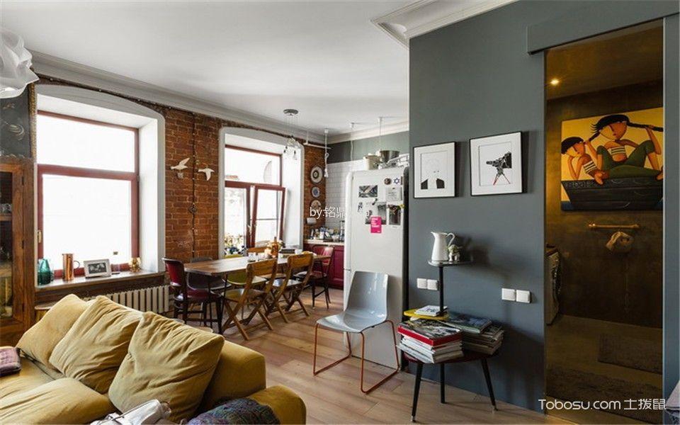 客厅白色窗台混搭风格装潢效果图
