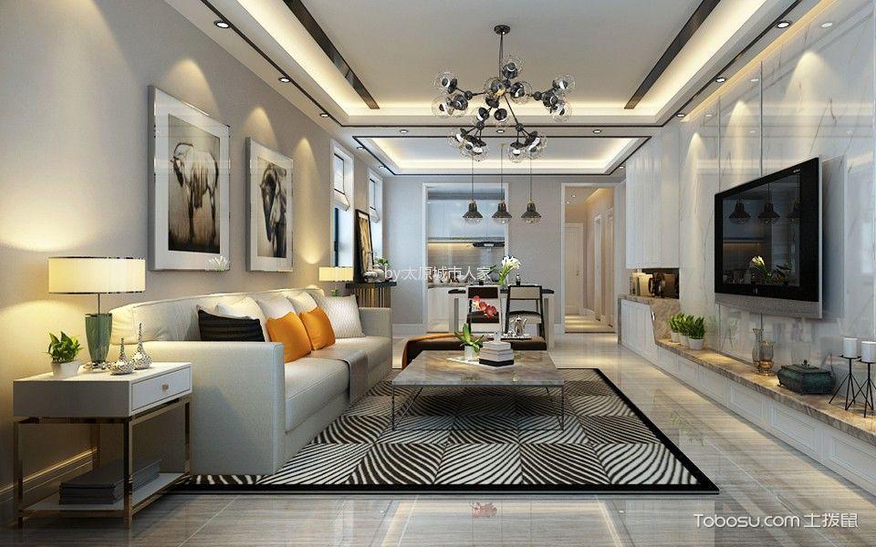 简约风格143平米3房2厅房子装饰效果图