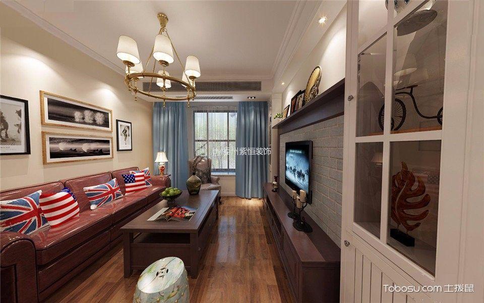紫阳新苑120平米美式三居室装修效果图
