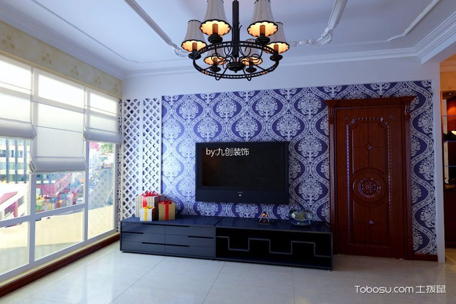 新华联美式三居室装修效果图