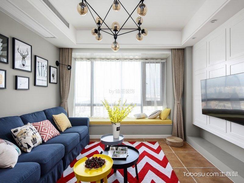 客厅灰色飘窗混搭风格装饰效果图