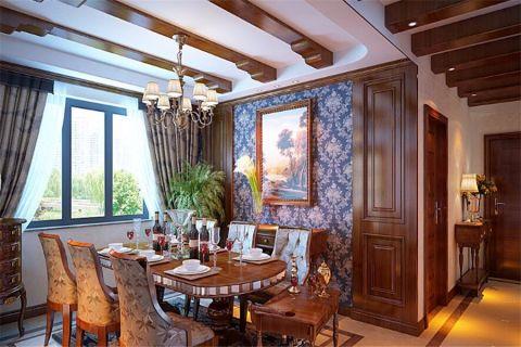 欧式风格177平米楼房房子装饰效果图