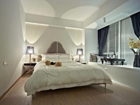 卧室白色飘窗简约风格效果图
