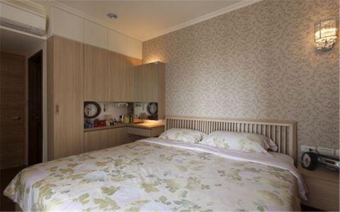 日式风格110平米三房两厅新房装修效果图
