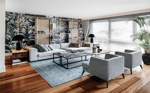 后现代风格120平米跃层房子装饰效果图