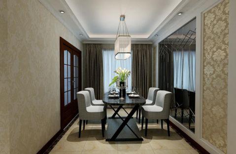 餐厅灰色窗帘现代简约风格装饰效果图