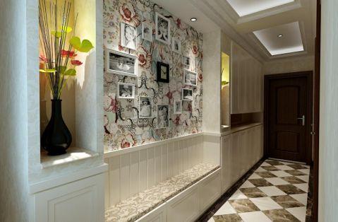 玄关彩色照片墙现代简约风格装潢效果图