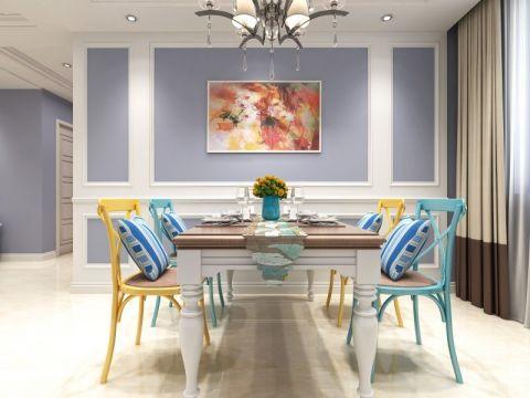 餐厅米色窗帘美式风格装修效果图