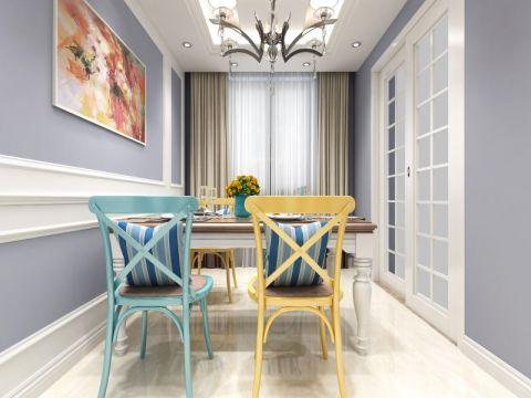 餐厅白色推拉门美式风格装饰效果图