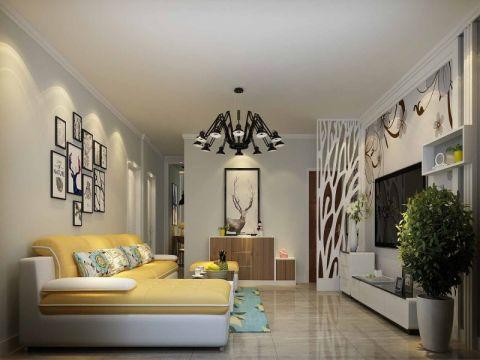 现代简约风格70平米小户型房子装饰效果图