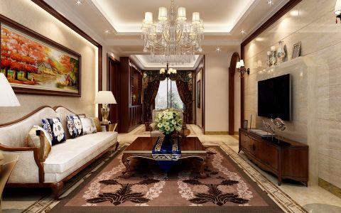 简中式风格110平米复式房子装饰效果图