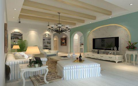 地中海风格98平米小户型室内装修效果图