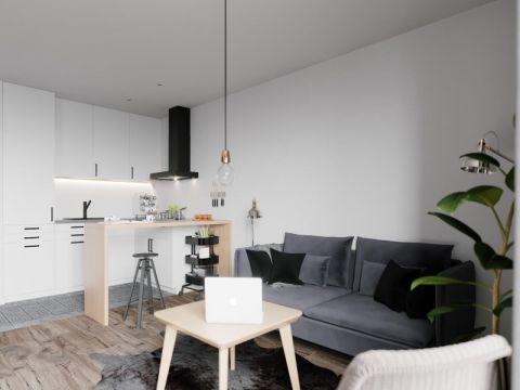 现代风格80平米公寓房子装饰效果图