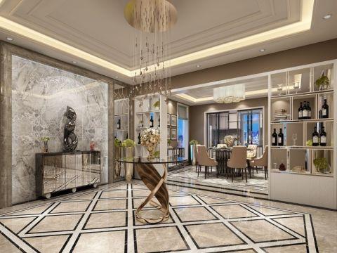 后现代风格130平米三房两厅新房装修效果图