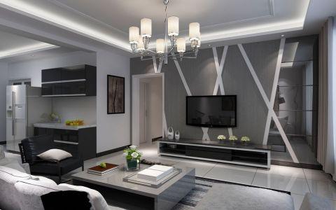 客厅吊顶现代装潢效果图