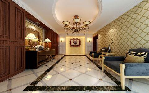 客厅咖啡色走廊新古典风格装饰设计图片