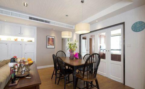 餐厅白色吊顶美式风格装修效果图