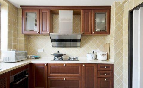厨房米色背景墙美式风格装饰效果图