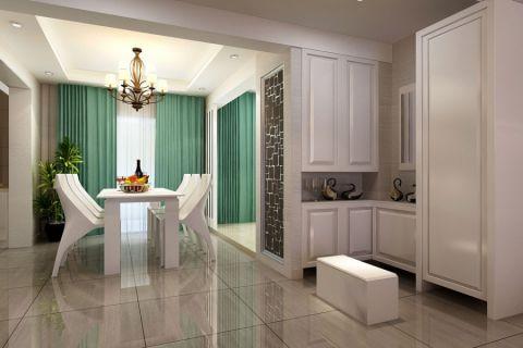 餐厅白色吊顶室内装修设计