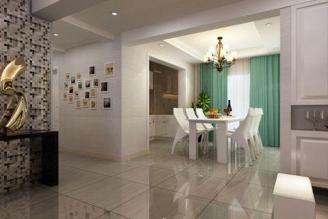 餐厅绿色窗帘现代风格装饰效果图