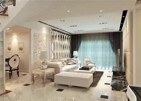 客厅黑色窗帘欧式风格装修图片