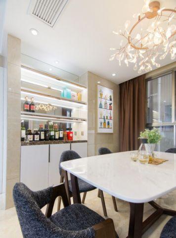 餐厅白色吊顶混搭风格装潢设计图片