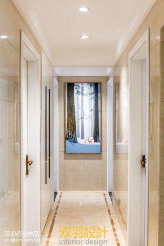 玄关白色走廊混搭风格效果图