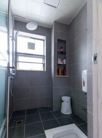 卫生间白色吊顶混搭风格装修图片