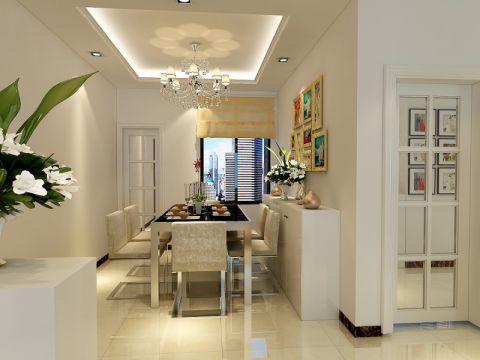 餐厅米色吊顶现代简约风格装修效果图