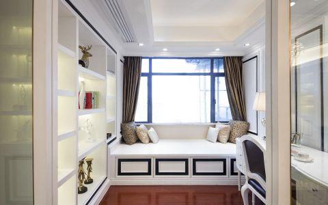 书房白色榻榻米欧式风格装饰效果图